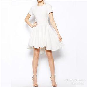 ASOS Tie Back White Skater Dress